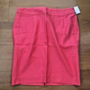 J.Crew NWT Pink Double Serge Cotton Pencil Skirt